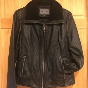 Leather Bomber Jacket Shearling XL Bromley